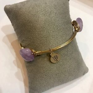 NWT Bourbon and Boweties Purple Stone Bracelet